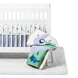 Crib Bedding Set Dino Boy 4pc - Cloud Island™ Blue/Green