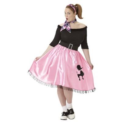 Adult Plus Sock Hop Sweetie Halloween Costume