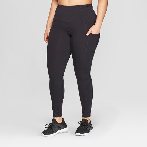 Women's Plus Size Urban Mid-Rise Leggings - C9 Champion® Black - image 1 of 2