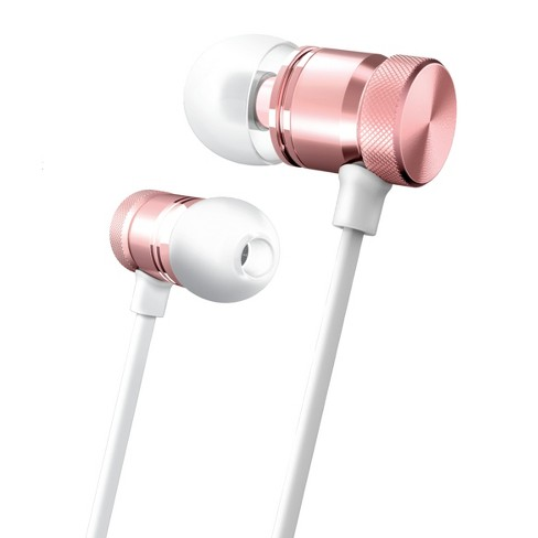Merkury Innovations Wireless Magnetic Aluminum Earbuds - White/Rose Gold - image 1 of 1