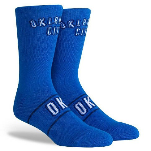 NBA Oklahoma City Thunder Uniform Youth Crew Socks - M - image 1 of 3