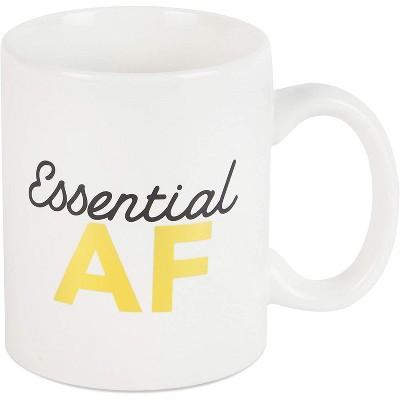 Okuna Outpost White Ceramic Coffee Mug Tea Cup 15 Oz, Essential AF
