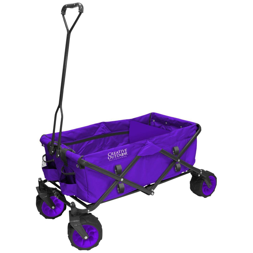 Image of Creative Outdoor Distributor All Terrain Folding Wagon - Purple