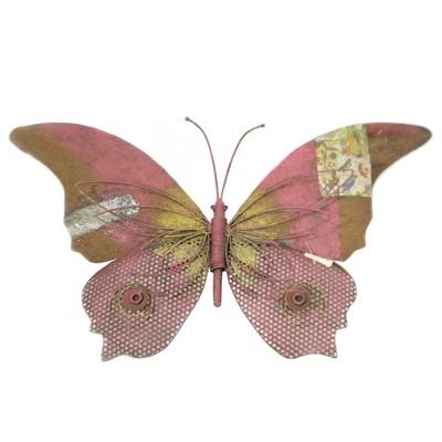 "Home & Garden 16.5"" Rustic Wall Decor Butterfly Pk Decoupage Nuts Bolts Regal Art & Gift  -  Decorative Wall Sculptures"