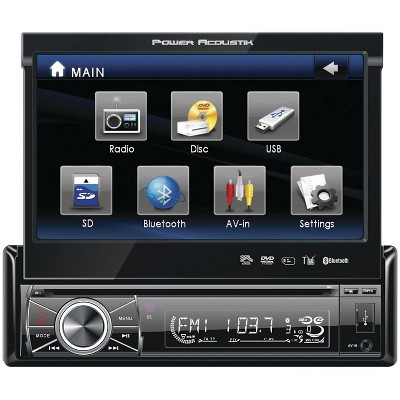 Power Acoustik 7 Single-DIN In-Dash Flip-Up Source Unit w/Bluetooth 2.0 POWPTID8920B