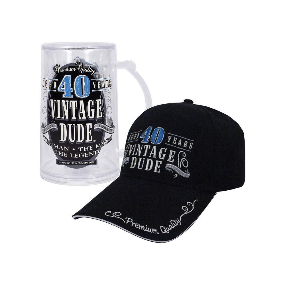 Vintage Dude 40 Hat And Tankard Bundle