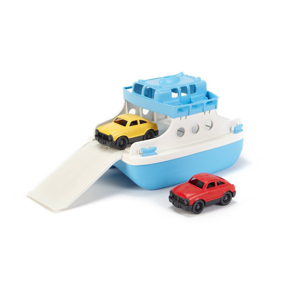 Green Toys Ferry Boat with Mini Cars Bath Toy - Blue/White