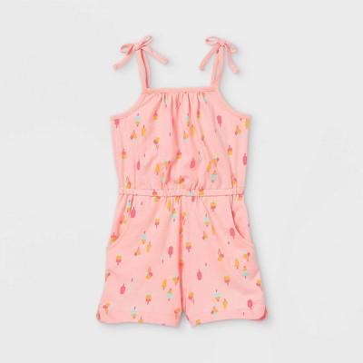 Toddler Girls' Tank Romper - Cat & Jack™ Light Pink 12M
