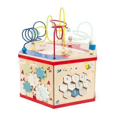 """Small Foot Wooden Toys XL Activity Center 7 In 1 Iconic Motor Skills """"Move It!"""" Playset"""