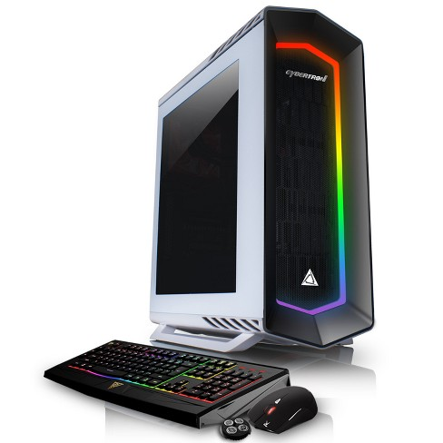 CybertronPC Celestrium GXM7405T Gaming PC with AMD Ryzen 5 1600X Processor, NVIDIA GeForce GTX 1080 Graphics - White/RGB - image 1 of 2