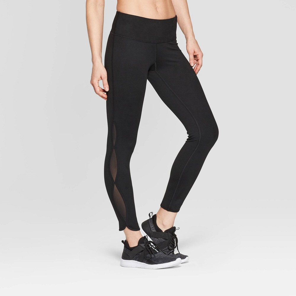 Women's Everyday Mid-Rise Keyhole Leggings - C9 Champion Black XS