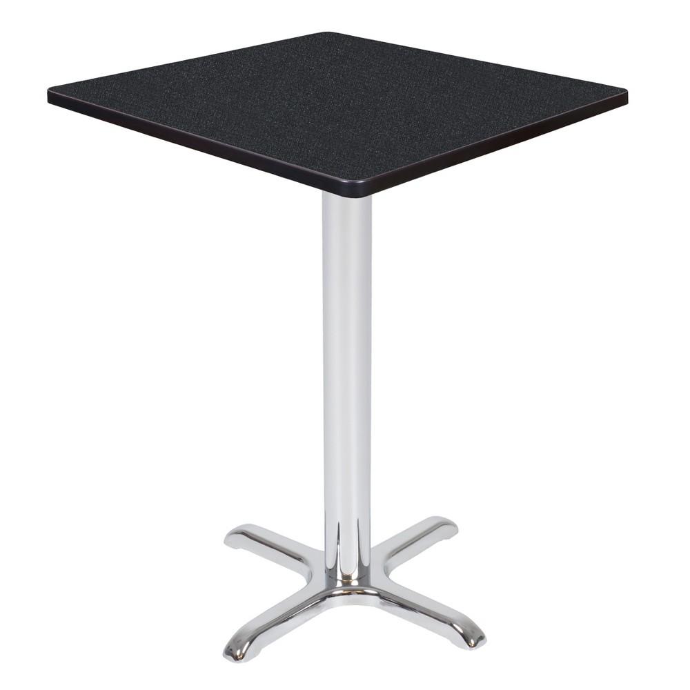 30 Via Cafe High Square X - Base Table Carbon/Chrome (Black/Grey) - Regency