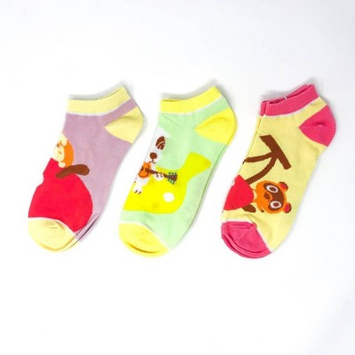 Nintendo Animal Crossing 3-Pack Ankle Sock