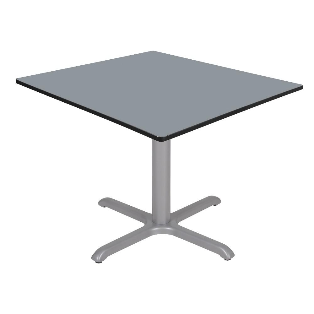48 Via Square X - Base Table Gray - Regency