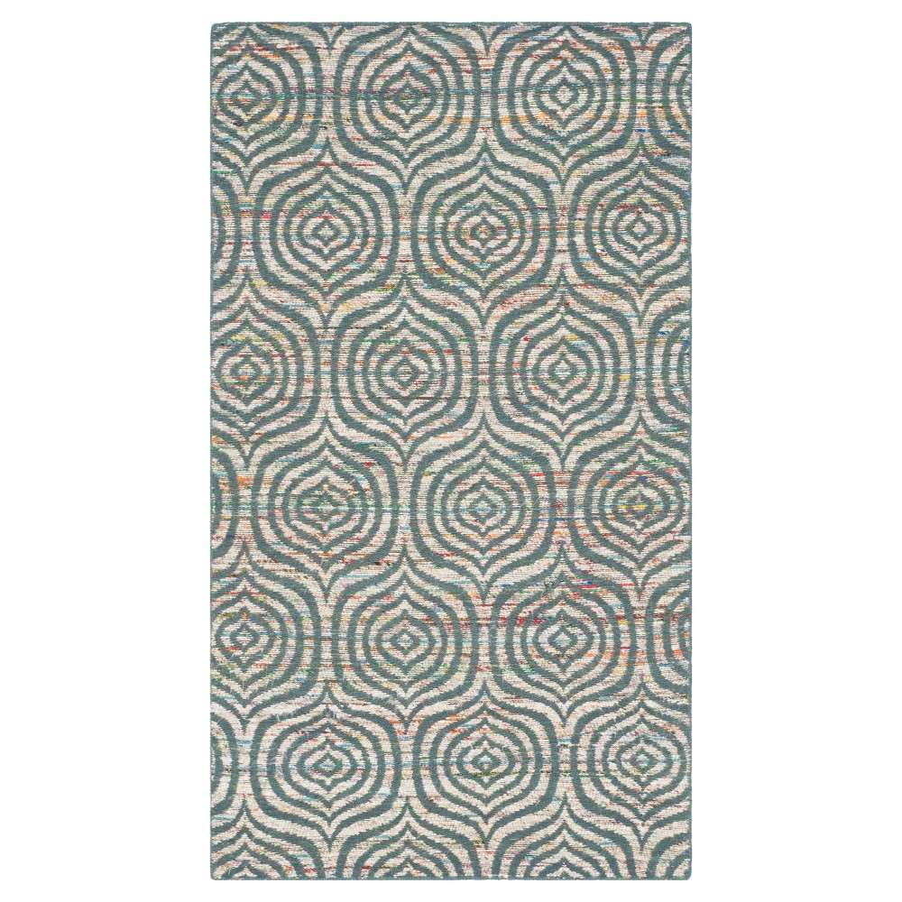 Blue/Multi Abstract Woven Accent Rug - (3'x5') - Safavieh