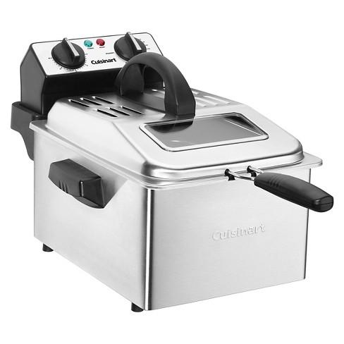Cuisinart 4qt Deep Fryer - Stainless Steel CDF-200 : Target