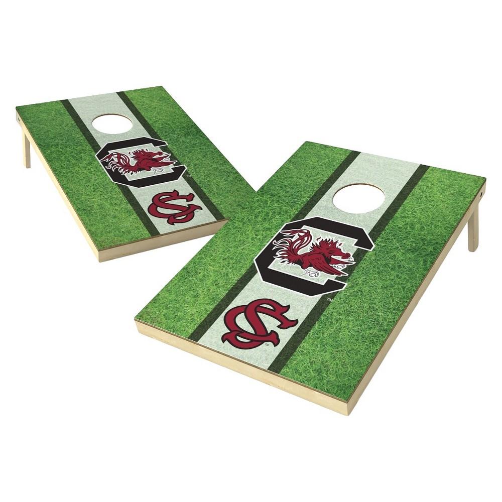 South Carolina Gamecocks Wild Sports 2' x 3' Field Design Tailgate Toss Platinum Cornhole Set