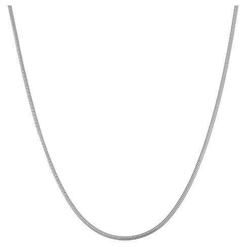 "Tiara Sterling Silver 16"" - 22"" Adjustable Thick Snake Chain - image 1 of 2"