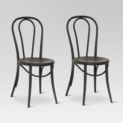 Set of 2 Emery Metal Bistro Chair Matte Black - Threshold™