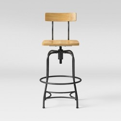 Woodsboro Adjustable Barstool - Threshold™