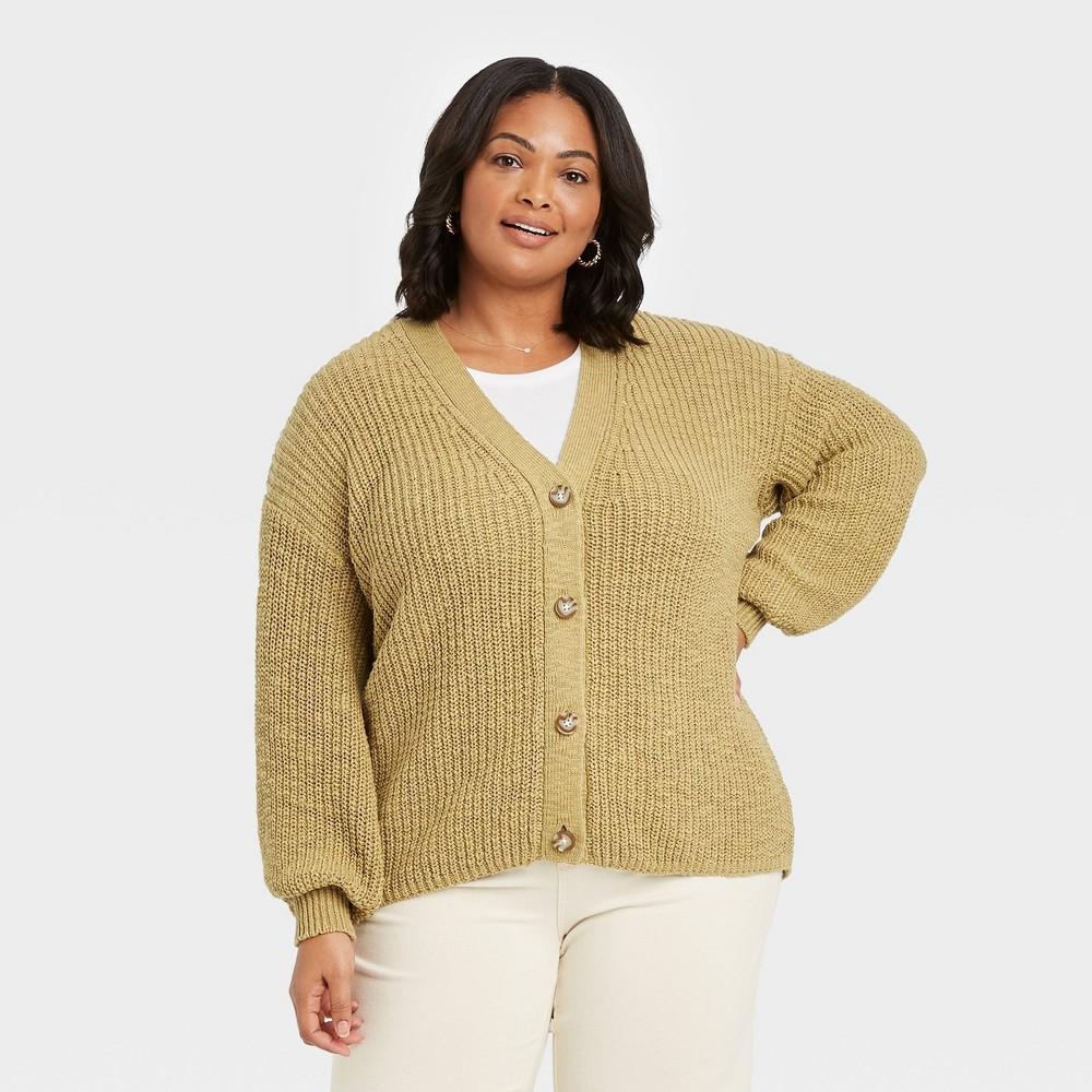 Women 39 S Plus Size Cardigan Ava 38 Viv 8482 Olive 2x