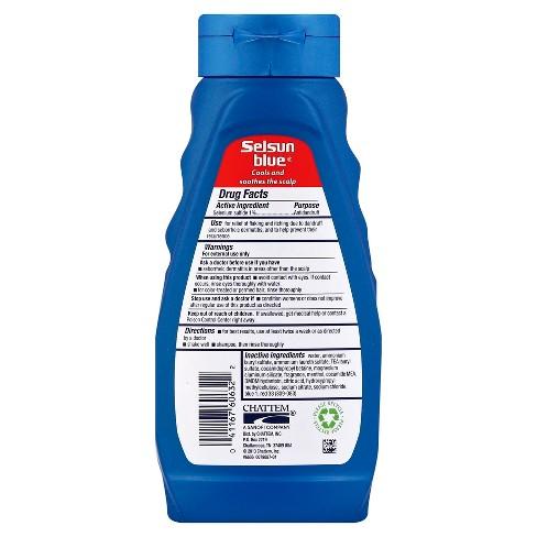 selsun blue medicated with menthol dandruff shampoo 11 fl oz target