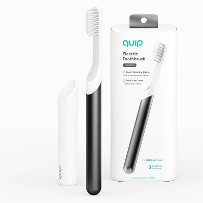 quip Metal Electric Toothbrush Starter Kit - 2-Minute Timer + Travel Case