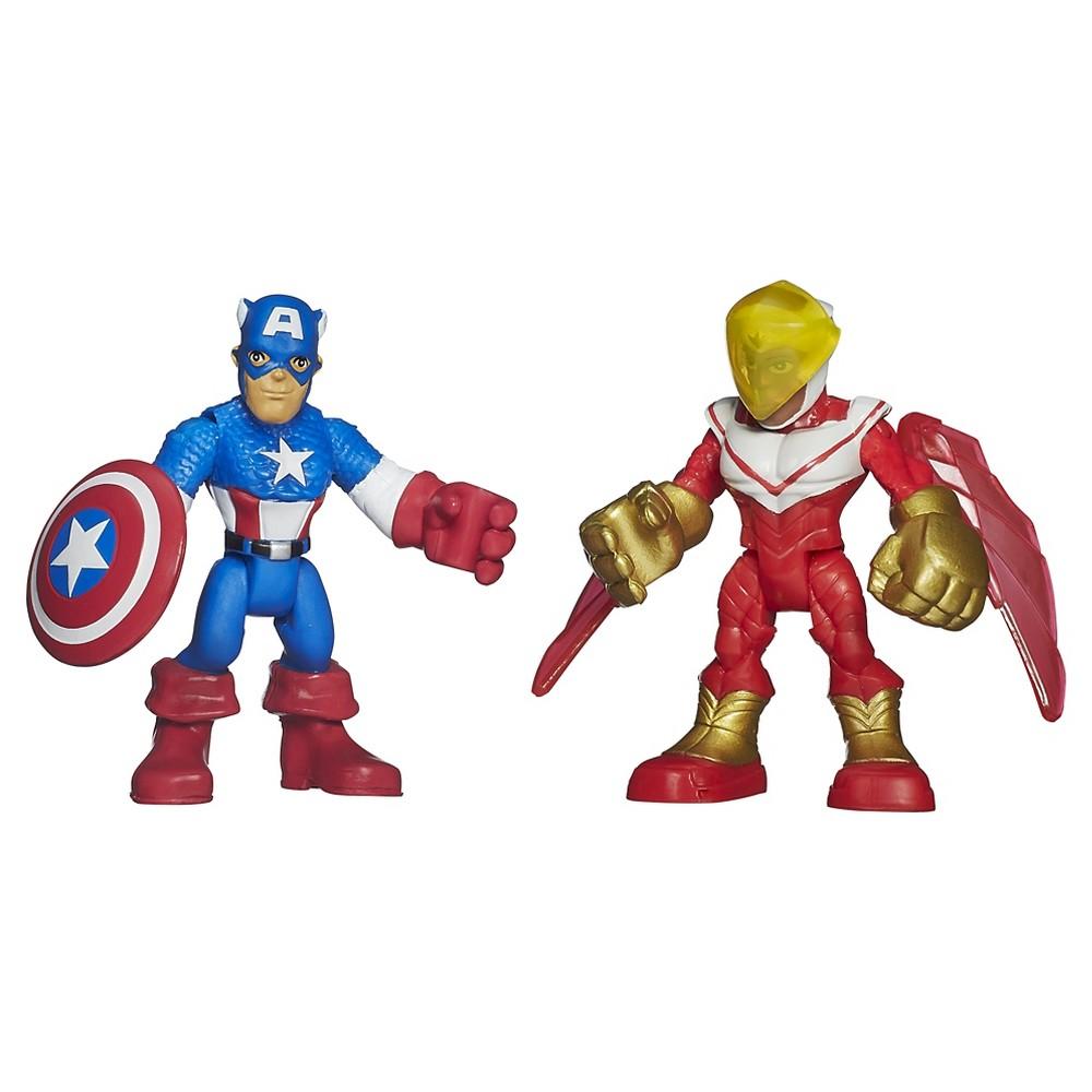 Playskool Heroes Marvel Super Hero Adventures Captain America and Marvel's Falcon Figures