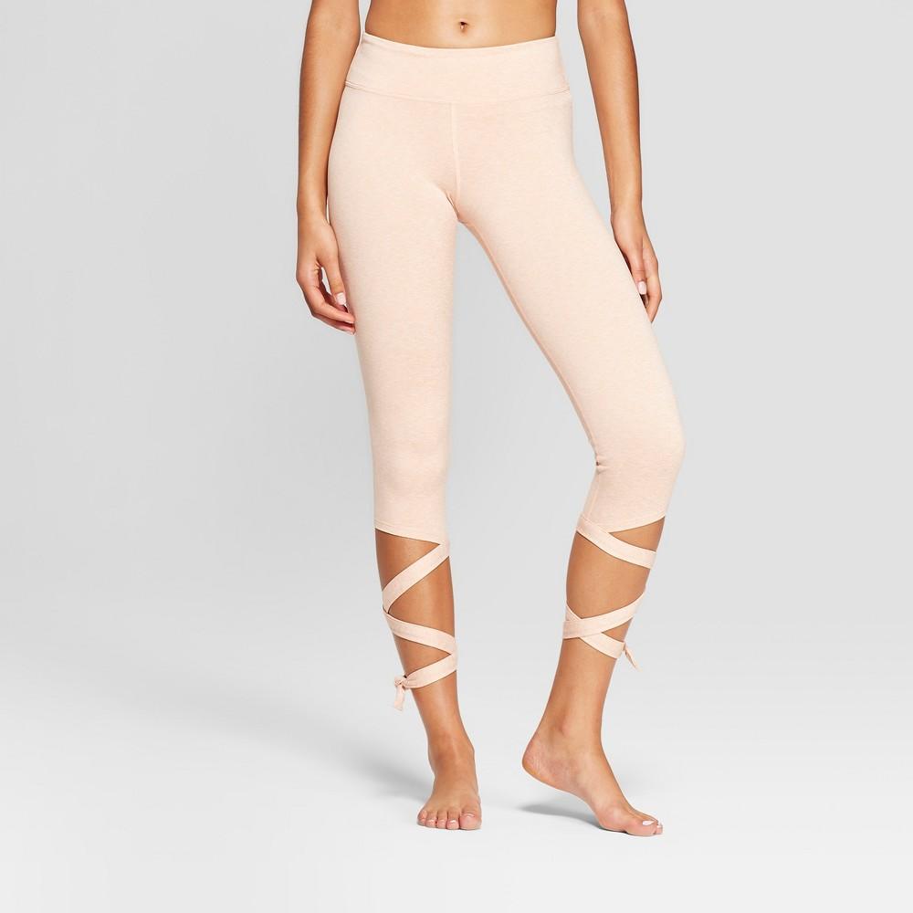 Women's Comfort Side Tie Mid-Rise Capri Leggings - JoyLab Dusty Peach XS