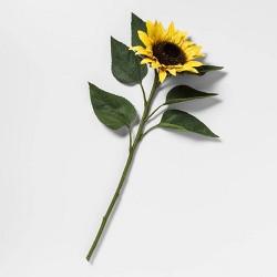 "24"" Artificial Sunflower Stem Yellow/Green - Threshold™"