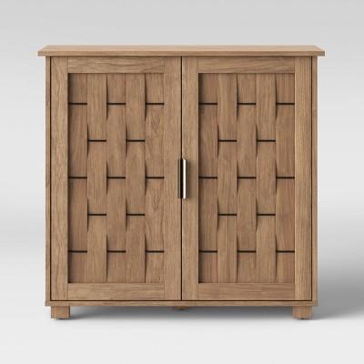 2 Door Woven Cabinet Natural - Threshold™