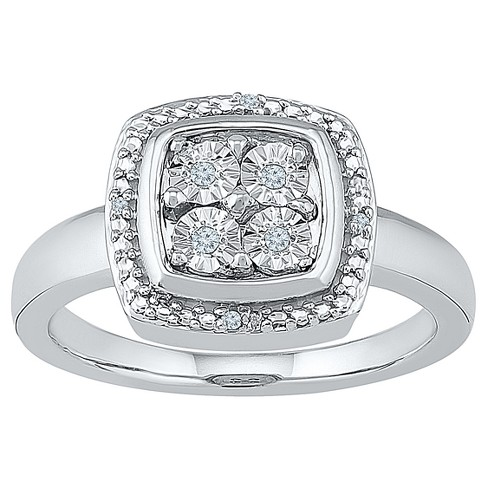 Diamond Accent Round White Diamond Fashion Ring in Sterling Silver (I-J,I2-I3) - image 1 of 2