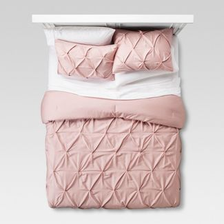 Blush Pinched Pleat Comforter Set (Full/Queen) 3pc - Threshold™