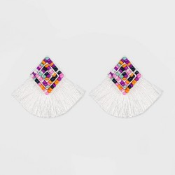 SUGARFIX by BaubleBar Fringe Stud Earrings with Beads