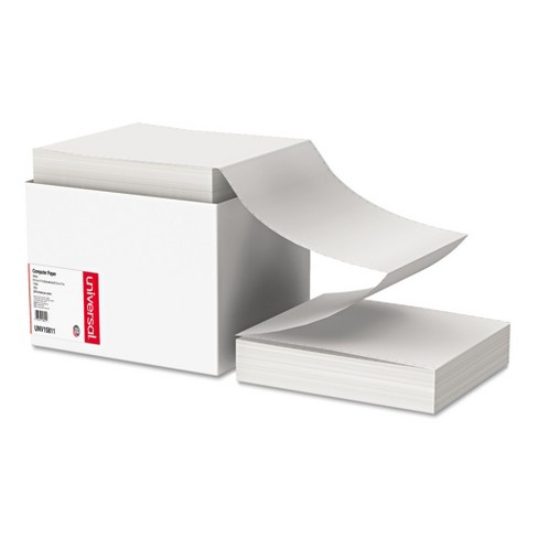 Universal Computer Paper, 18lb, 9-1/2 x 11, Letter Trim Perforations, White, 2300 Sheets (15811) - image 1 of 2