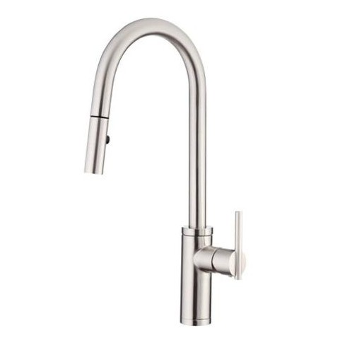 Danze D454058 Parma Cafe Single Handle Pull-Down Spray Kitchen Faucet with  SnapBack Technology - Stainless Steel