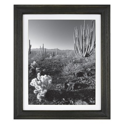 "9"" x 11"" Matted to 8"" x 10"" Basic Foundational Frame Black - Threshold™"