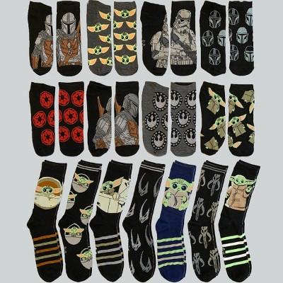 Men's Star Wars The Mandalorian 15 Days of Socks Advent Calendar 15pk - 6-12