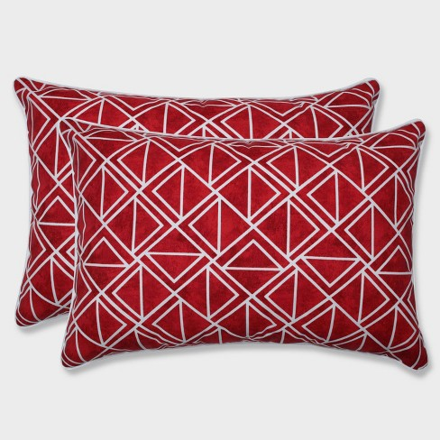 2pk Oversize Lanova Apple Rectangular Throw Pillows Red - Pillow Perfect - image 1 of 1