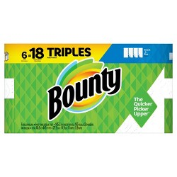 Bounty Select-A-Size White Paper Towels - 6 Triple Roll