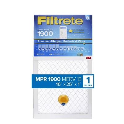 Filtrete Smart Air Filter Premium Allergen Bacteria and Virus 1900 MPR