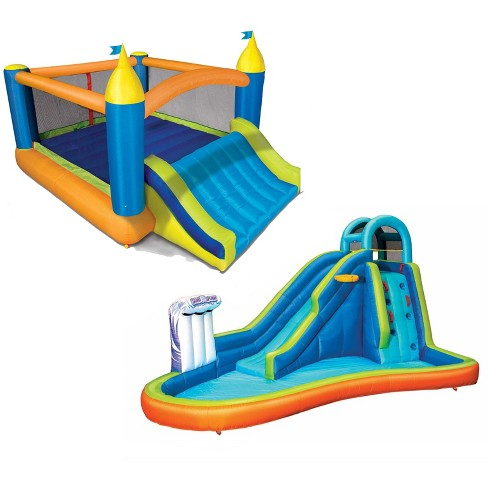Banzai Deluxe 2 In 1 Surf 'N Splash Water Park And Slide 'N Bounce House Combo - image 1 of 6