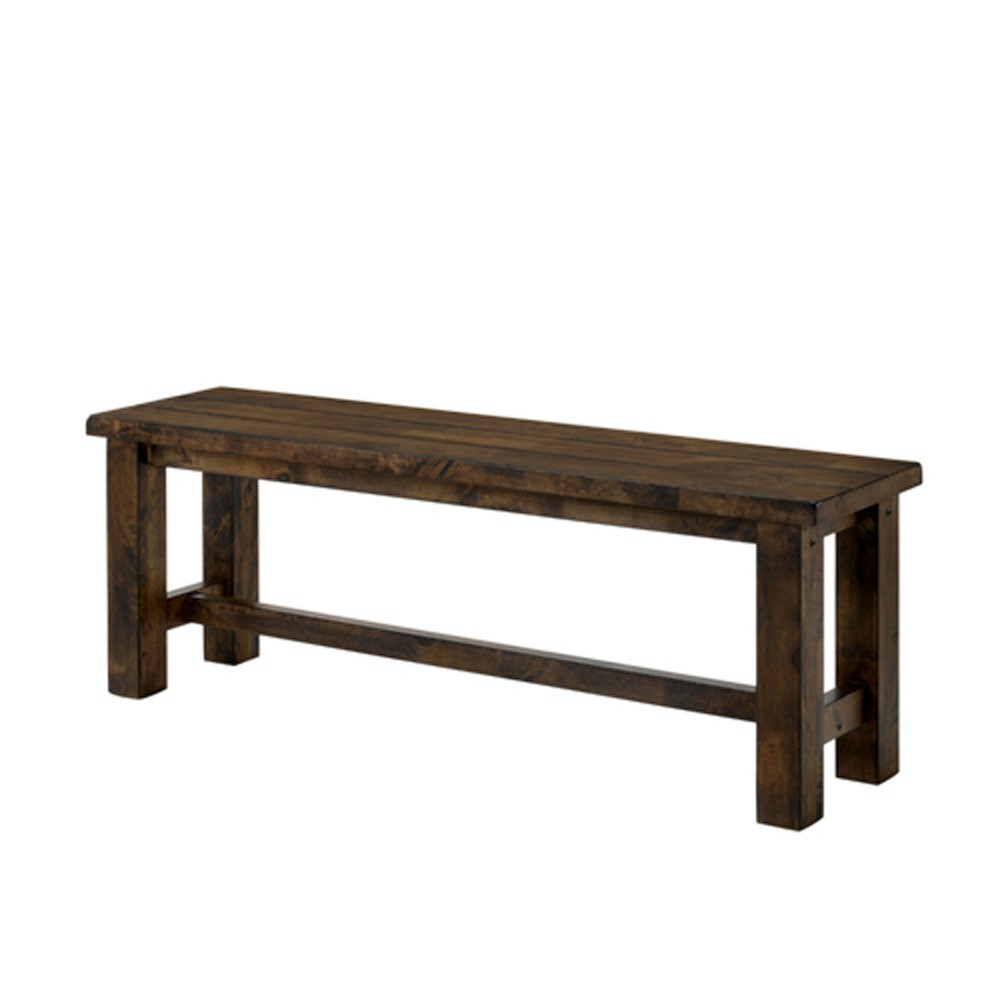 "Image of ""52"""" Sims Wood Bench Oak - ioHOMES"""