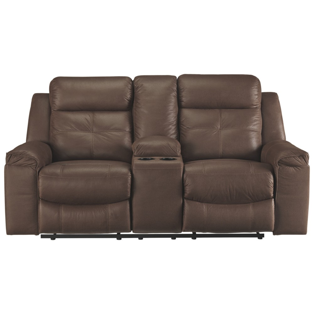 Jesolo Double Reclining Loveseat with Console Coffee Brown - Signature Design by Ashley