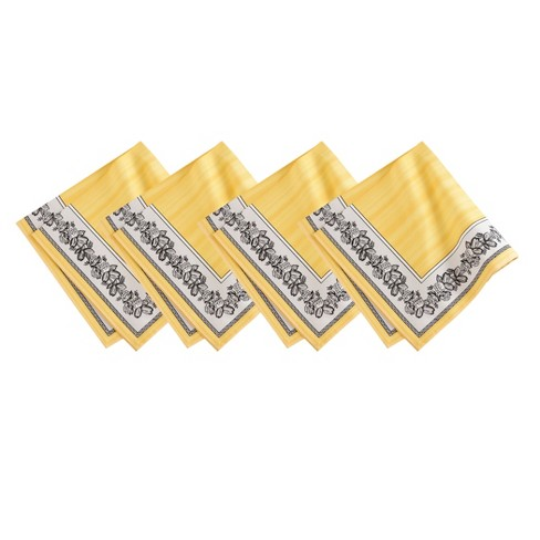 "Villeroy & Boch - Audun Cotton Fabric Napkin Set of 4 - 21"" x 21"" - image 1 of 4"