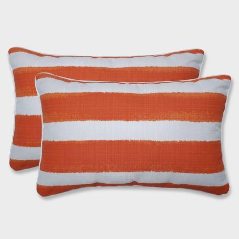 2pk Nico Marmalade Rectangular Throw Pillows Orange - Pillow Perfect - image 1 of 2