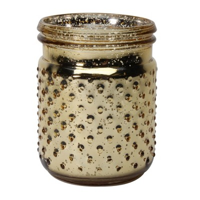 16.8oz Hobnail Container Candle Gold Festive Fir - Soho Brights