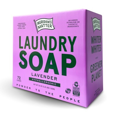Ingredients Matter Lavender Laundry Soap Powder - 36oz