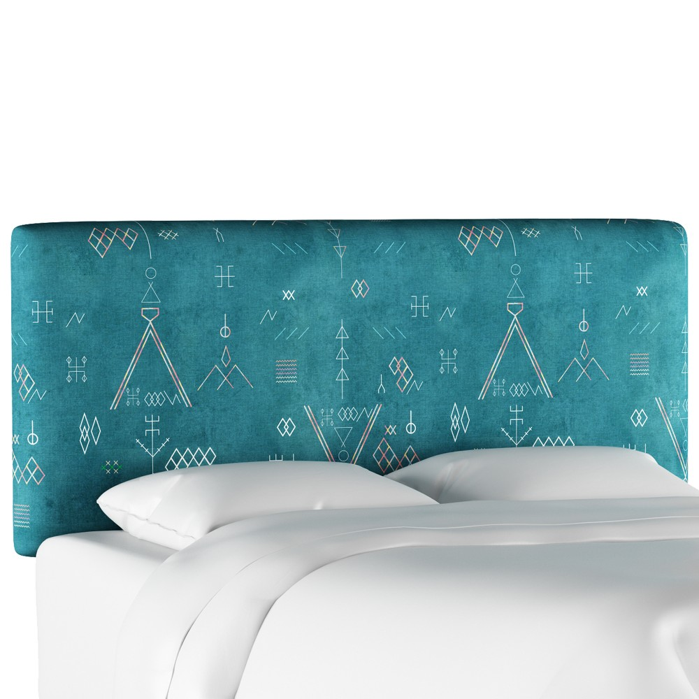 Upholstered Headboard - Katonah Teal - Queen - Designlovefest