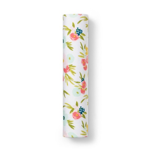 Muslin Swaddle Blanket Floral - Cloud Island™ - image 1 of 2